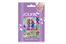 Jolifin Fancy Nail Sticker silver rainbow 6