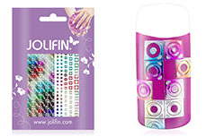 Jolifin Fancy Nail Sticker silver rainbow 8