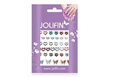 Jolifin Fancy Nail Sticker silver rainbow 9