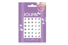 Jolifin Fancy Nail Sticker silver rainbow 10
