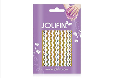 Jolifin Fancy Nail Sticker golden rainbow 1