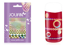 Jolifin Fancy Nail Sticker golden rainbow 3
