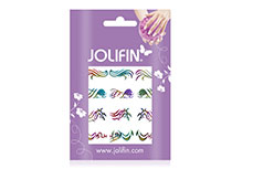 Jolifin Fancy Nail Sticker golden rainbow 5