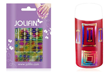 Jolifin Fancy Nail Sticker golden rainbow 6