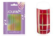 Jolifin Fancy Nail Sticker golden rainbow 7