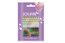 Jolifin Fancy Nail Sticker golden rainbow 8
