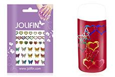 Jolifin Fancy Nail Sticker golden rainbow 9