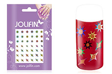 Jolifin Fancy Nail Sticker golden rainbow 10