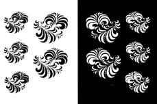Jolifin Nailart Tattoos black and white Nr. 12