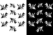 Jolifin Nailart Tattoos black and white Nr. 18