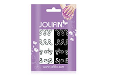Jolifin Nailart Tattoos black and white Nr. 19