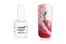 Jolifin Carbon Quick-Farbgel - metallic rosé 11ml