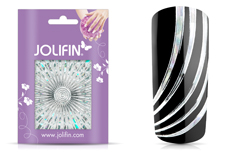 Jolifin Fancy Nail Sticker silver 2