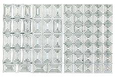 Jolifin Fancy Nail Sticker silver 6