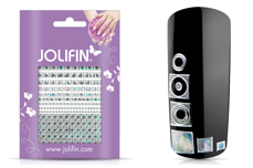 Jolifin Fancy Nail Sticker silver 8