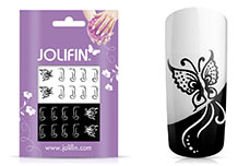 Jolifin Jolly Nailart Tattoo 4 black