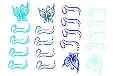 Jolifin Jolly Nailart Tattoo 4 blue