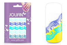 Jolifin Jolly Nailart Tattoo 5 blue