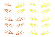 Jolifin Jolly Nailart Tattoo 8 yellow