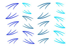 Jolifin Jolly Nailart Tattoo 8 blue
