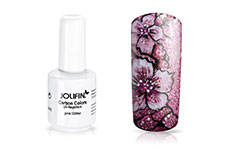 Jolifin Carbon Colors UV-Nagellack pink Glitter 11ml