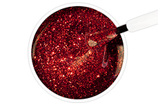 Jolifin Carbon Quick-Farbgel - red Glitter 14ml