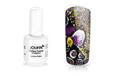 Jolifin Carbon Quick-Farbgel - rainbow Glitter 11ml