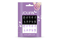 Jolifin Nailart Tattoos purple and white Nr. 2