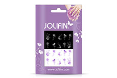 Jolifin Nailart Tattoos purple and white Nr. 3