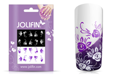 Jolifin Nailart Tattoos purple and white Nr. 6