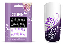 Jolifin Nailart Tattoos purple and white Nr. 7