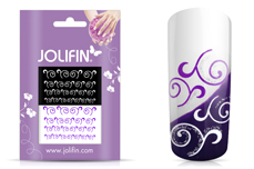 Jolifin Nailart Tattoos purple and white Nr. 8