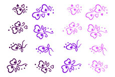 Jolifin Jolly Nailart Tattoo 14 purple