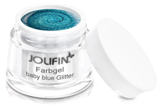 Jolifin Farbgel 4plus baby blue Glitter 5ml