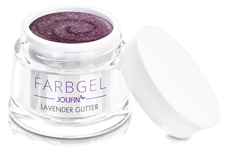Jolifin Farbgel lavender Glitter 5ml