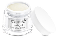 Jolifin Farbgel multi white Glitter 5ml