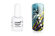 Jolifin Carbon Quick-Farbgel - ocean blue Glitter 11ml