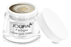 Jolifin Farbgel silver-gold Glitter 5ml