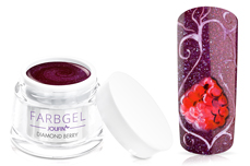 Jolifin Farbgel 4plus diamond berry 5ml