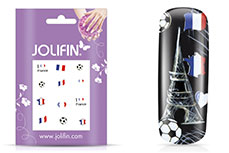 Jolifin Fussball Nailart Tattoo - France