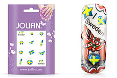 Jolifin Fussball Nailart Tattoo 10