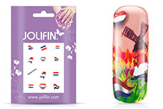 Jolifin Fussball Nailart Tattoo - Netherlands