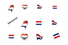 Jolifin Fussball Nailart Tattoo - Netherlands