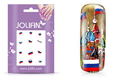 Jolifin Fussball Nailart Tattoo - Russia
