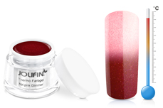 Jolifin Thermo Farbgel 4plus hot pink glitter 5ml