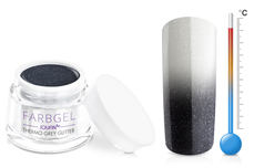 Jolifin Thermo Farbgel grey glitter 5ml
