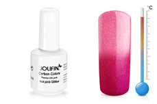 Jolifin Carbon Colors Thermo UV-Lack hot pink glitter 11ml