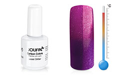 Jolifin Carbon Quick-Farbgel Thermo violet glitter 11ml