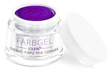Jolifin Thermo Farbgel purple pink glimmer 5ml