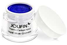 Jolifin Thermo Farbgel 4plus royal blue glimmer 5ml